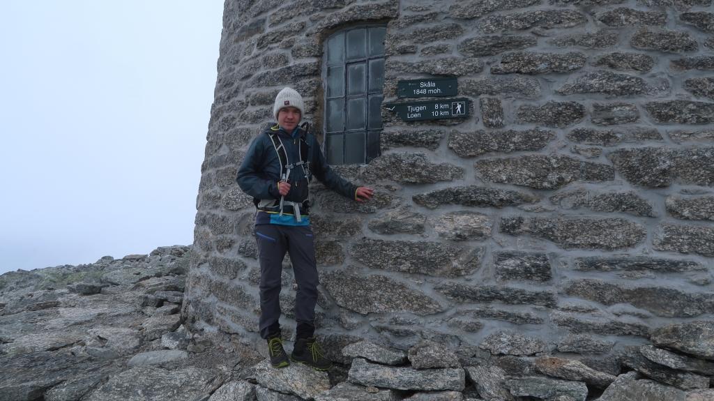 Espen på toppen ved Skålatårnet